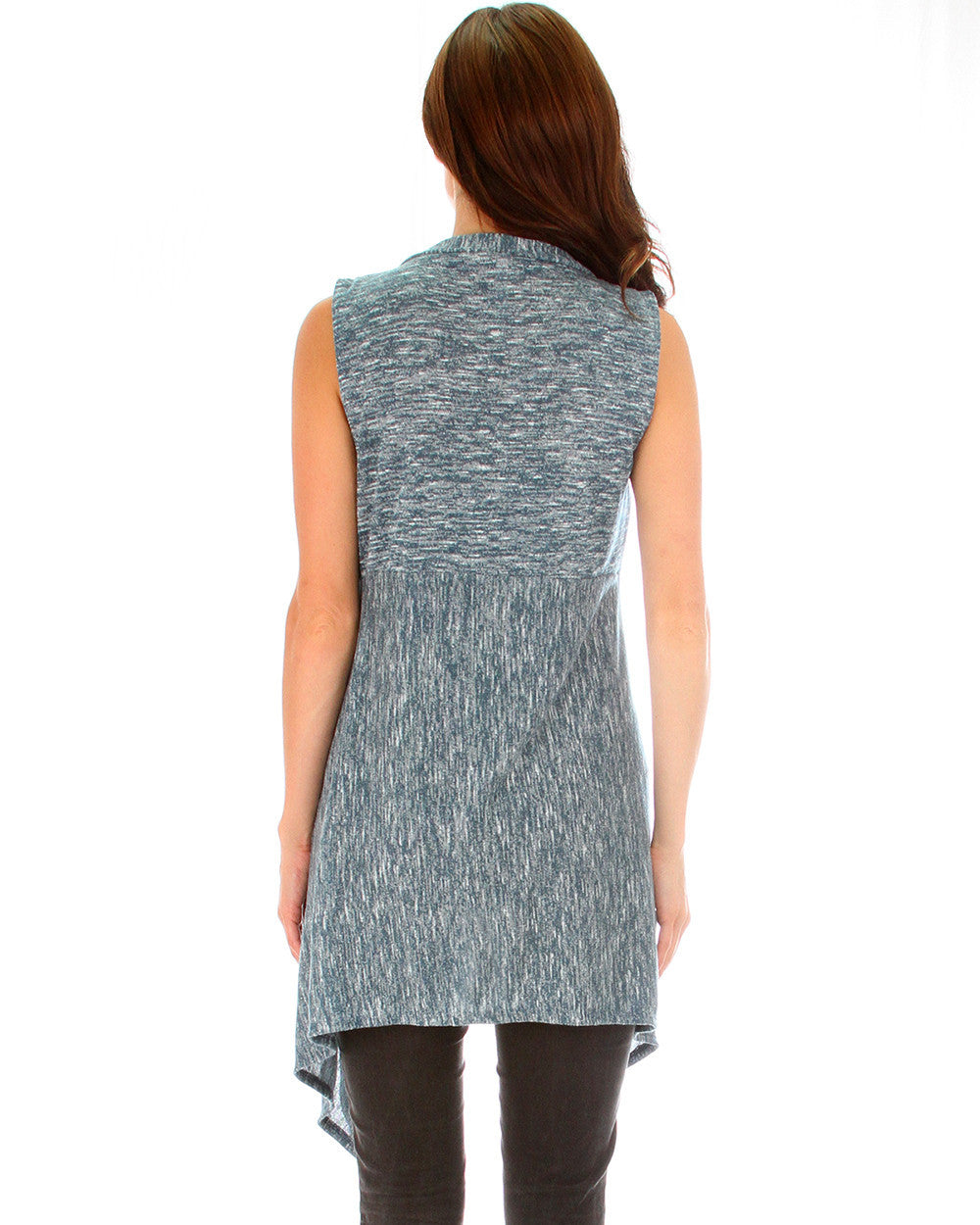 Body Slimming 2-Tone Cardigan In Teal