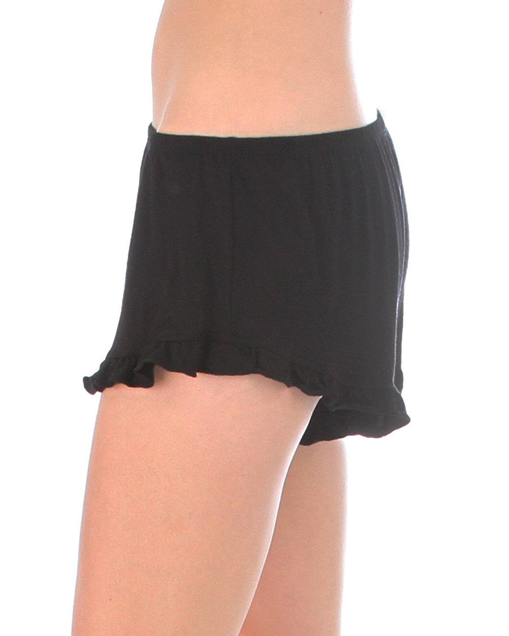 Vodi Shorts With Ruffle Trim In Black