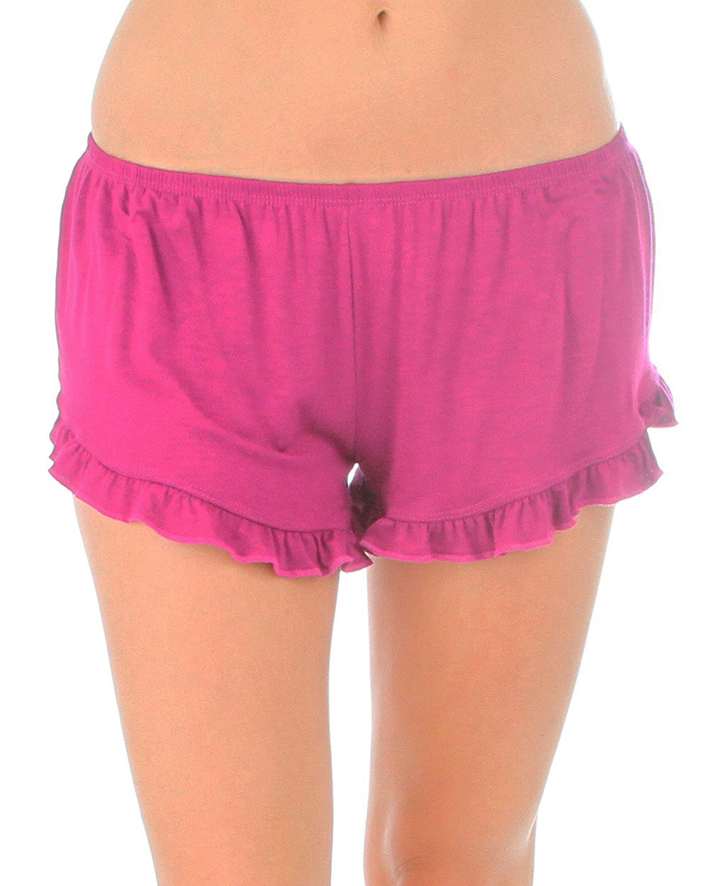 Vodi Shorts With Ruffle Trim In Magenta