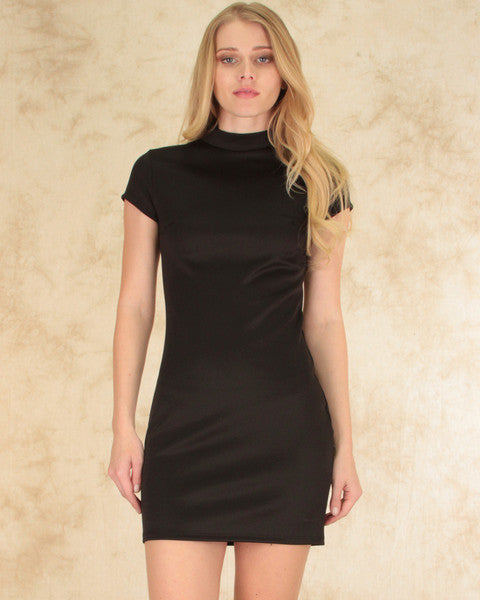 Show Off Bodycon Dress In Black