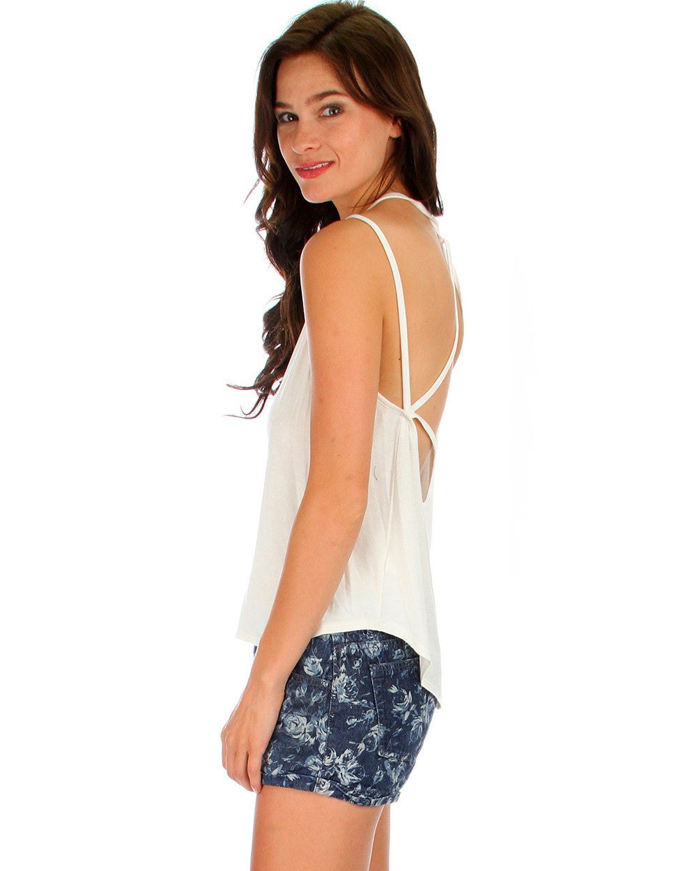 Oh My Straps! Tank Top In Ivory