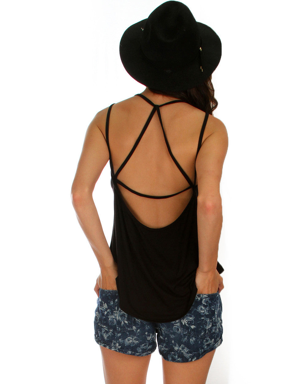 Oh My Straps! Tank Top In Black