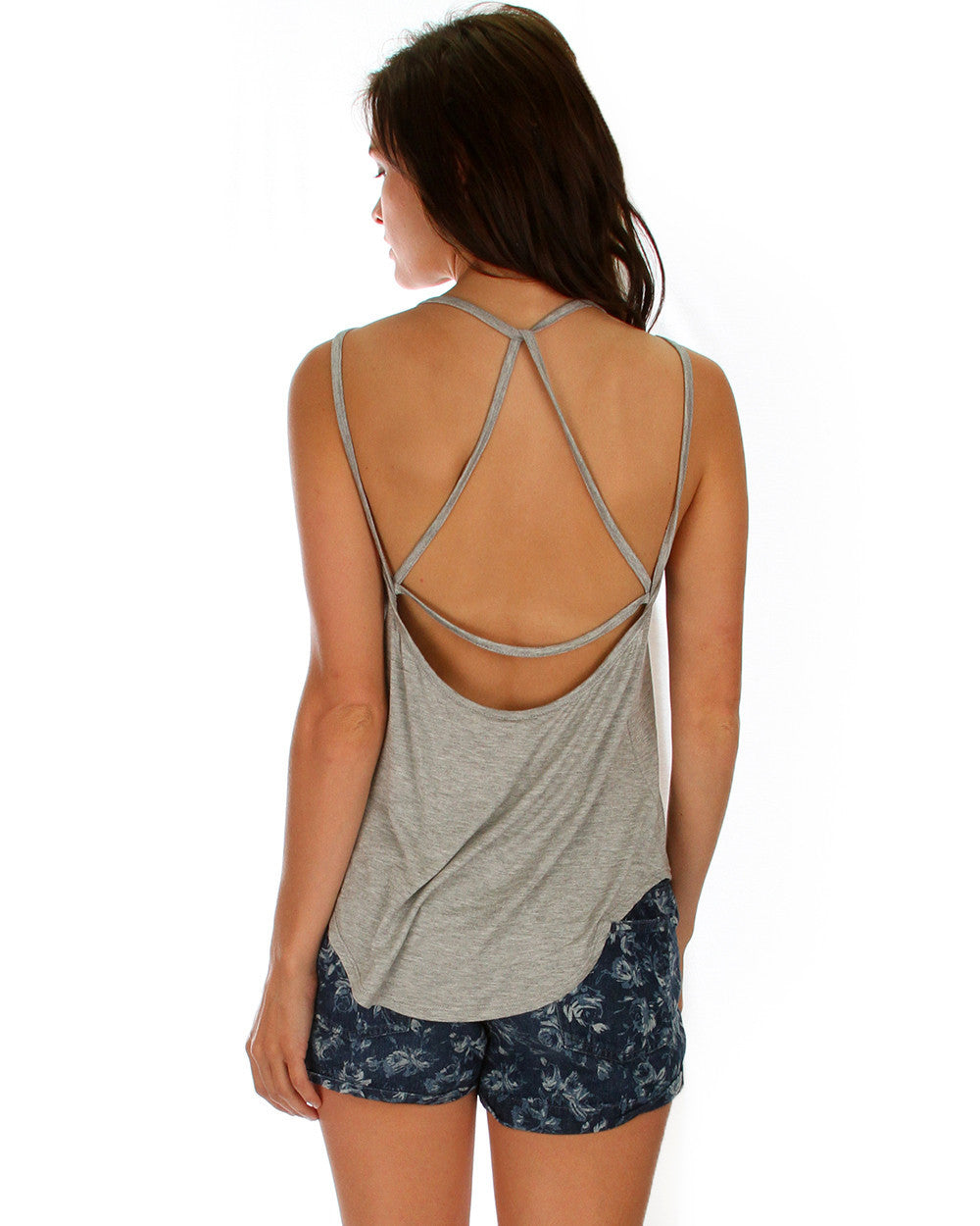 Oh My Straps! Tank Top In Grey
