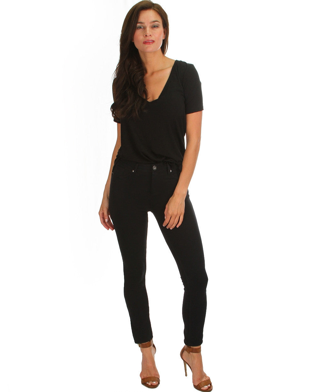 All Day Comfort Skinny Pants In Black