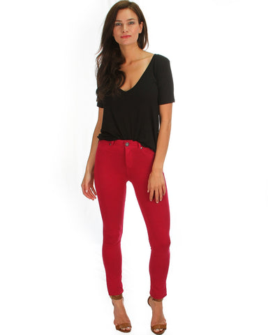 All Day Comfort Skinny Pants In Magenta