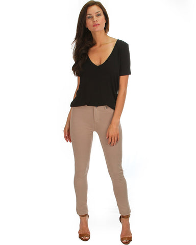 All Day Comfort Skinny Pants In Taupe