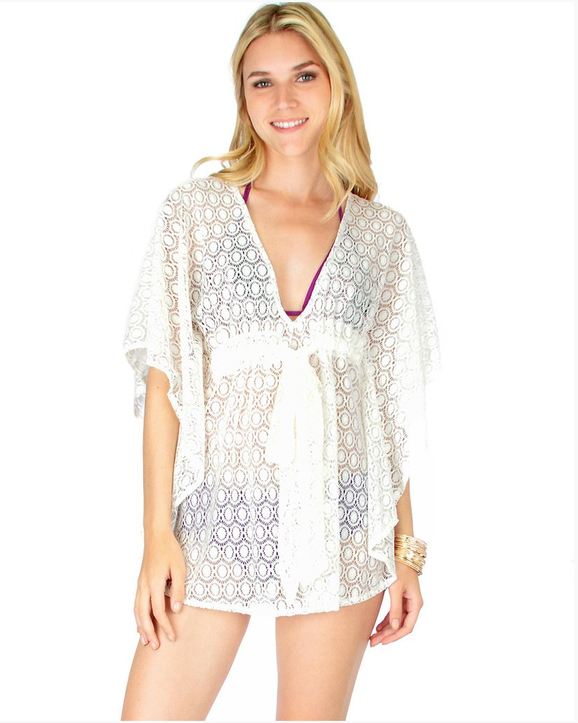 Air & Sea Lace Cover -Up Top