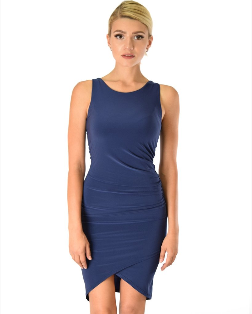 Ruched Bodycon Mini Dress