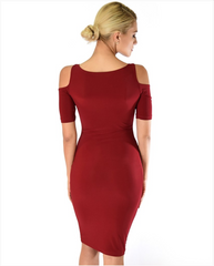 Open Shoulder Bodycon Mini Dress