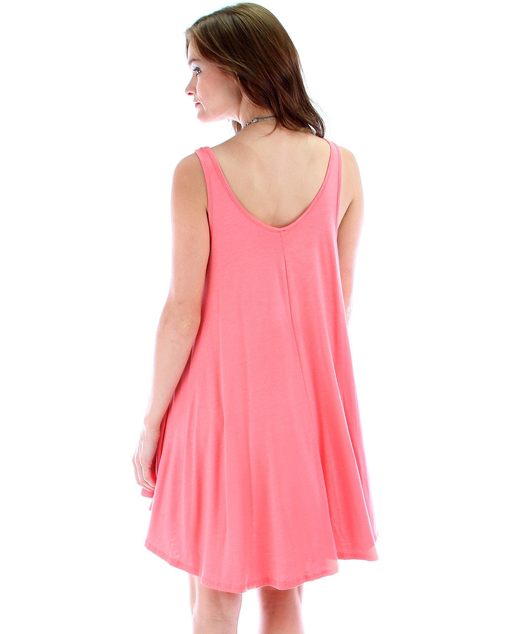 Any Time Shift Dress In Coral