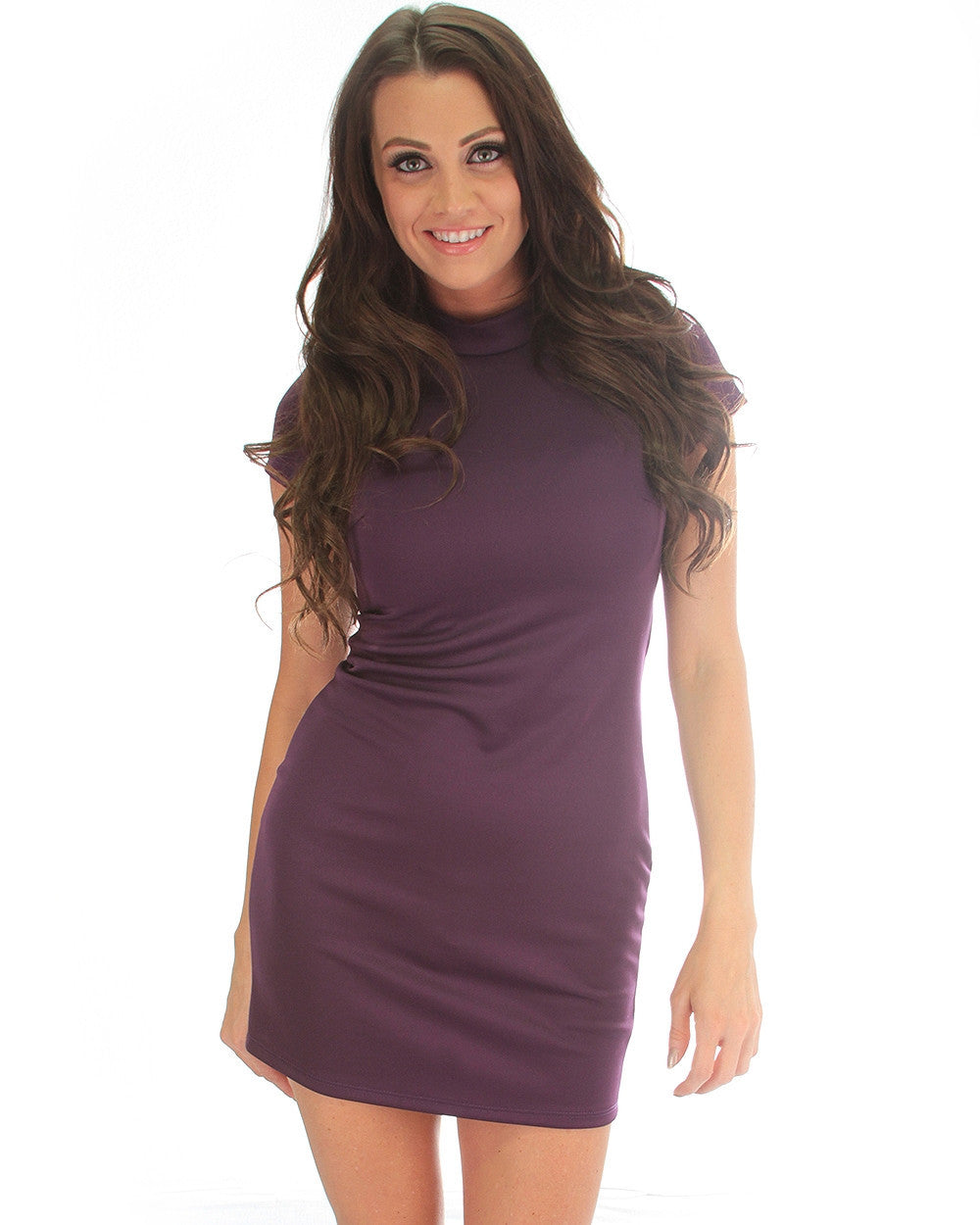 Show Off Bodycon Dress In Plum