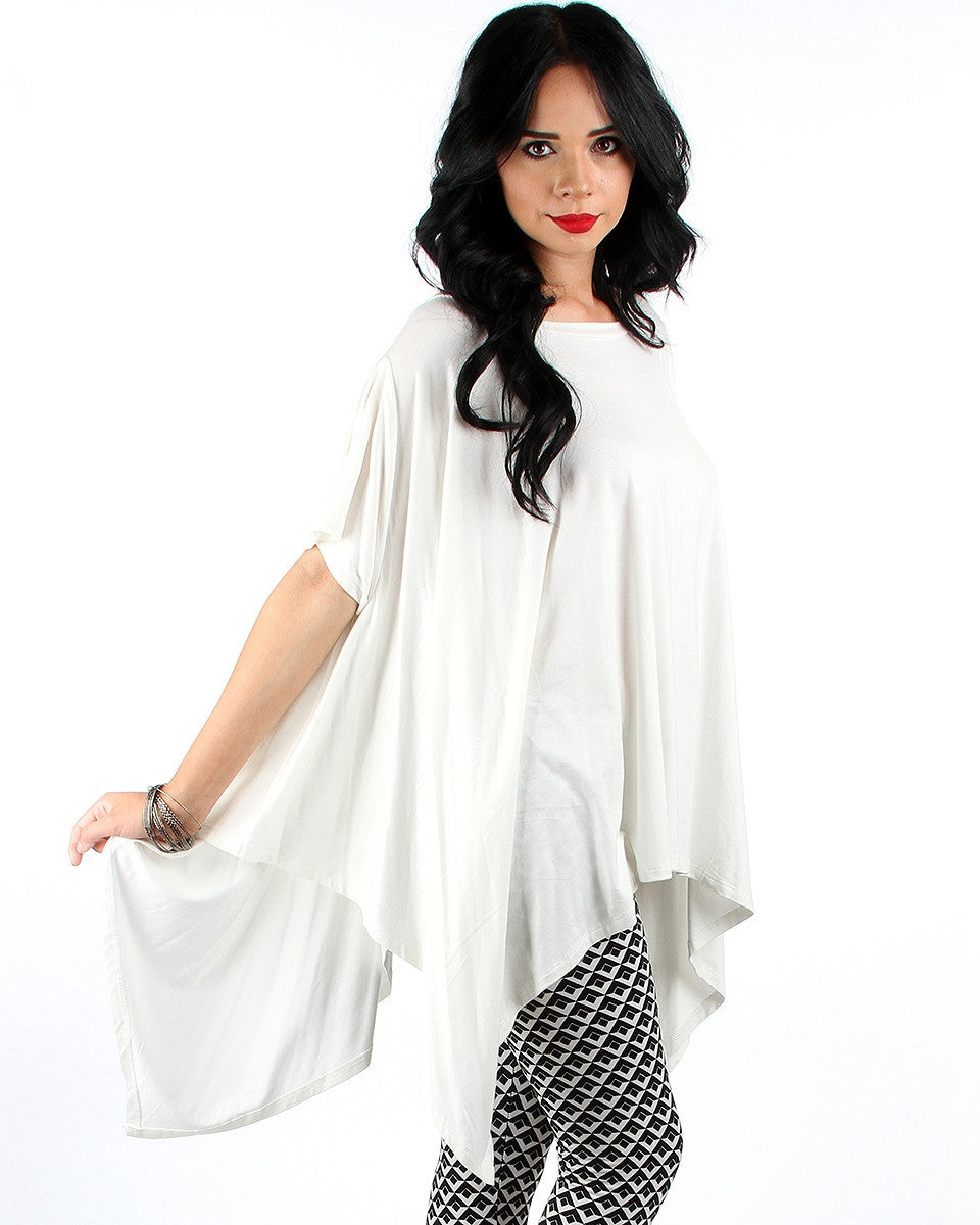 Drape All Over Tunic Top In Ivory