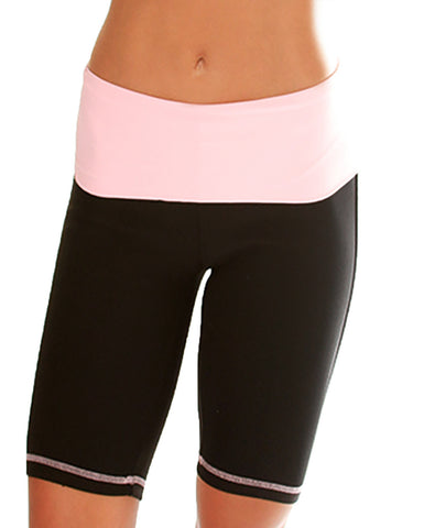 Baby Pink Lyss Loo Fold Over Active Shorts