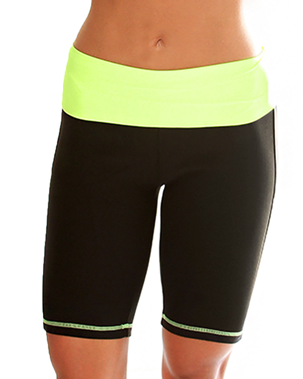 Green Lyss Loo Fold Over Active Shorts