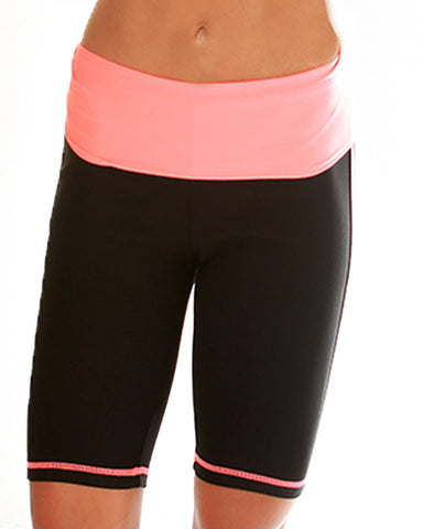 Pink Lyss Loo Fold Over Active Shorts