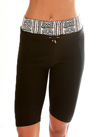 Tribal Print Lyss Loo Work it Out Active Shorts