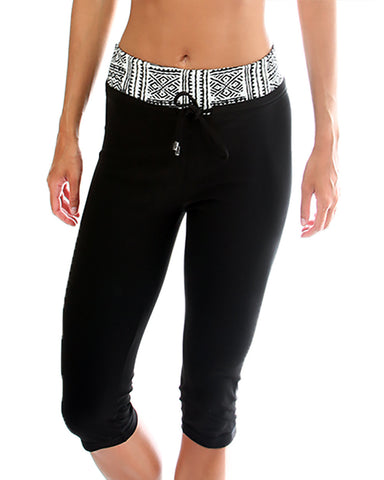 Tribal Print Lyss Loo Work it Out Active Capri Pants