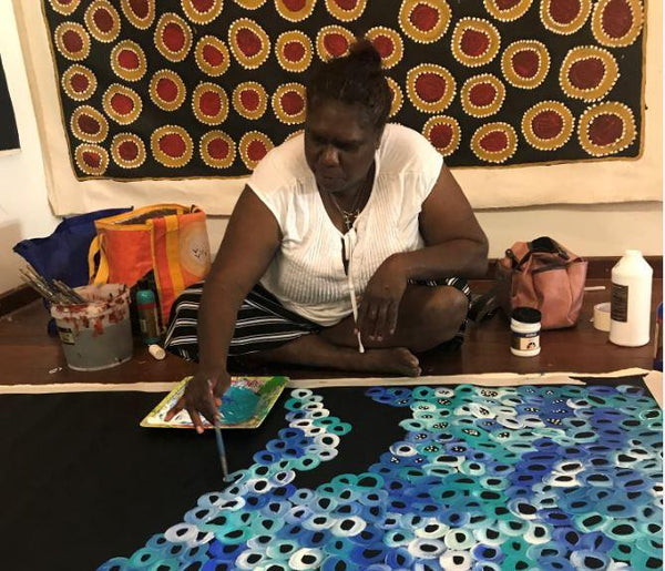 LOUISE NUMINA - Kaytetye Artist from Utopia region - Aboriginal Art