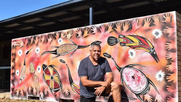 LES LIPWURRUNGA HUDDLESTON - Aboriginal Artist from Roper River, E. Arnhem Land, N.T