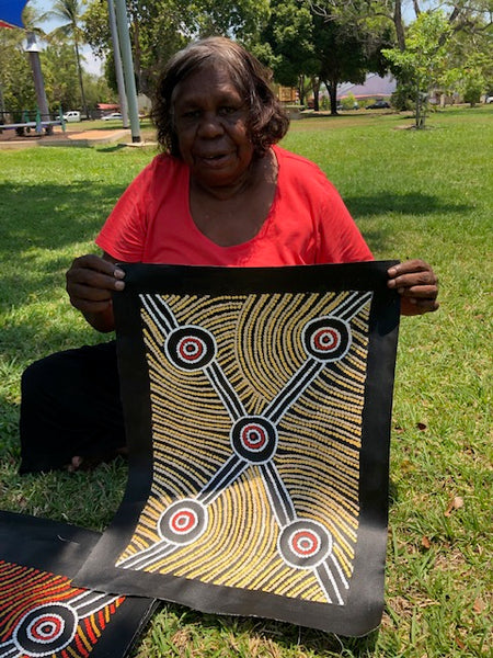 BARBARA PANANKA MBITJANA  - PRICE - Anmatjerra Artist Ti Tree north Central Desert region