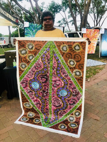 MARIA NAMPIJINPA BROWN - Aboriginal Artist from Yuendumu N.T, Central Desert Region