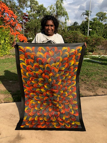 SELINA NUMINA - Aboriginal artist from Utopia N. Central Desert region