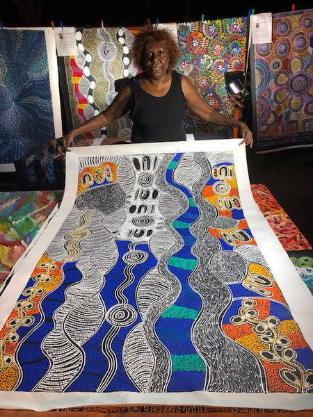 LANITA NUMINA - Kaytetye Artist from Utopia region - Aboriginal Art