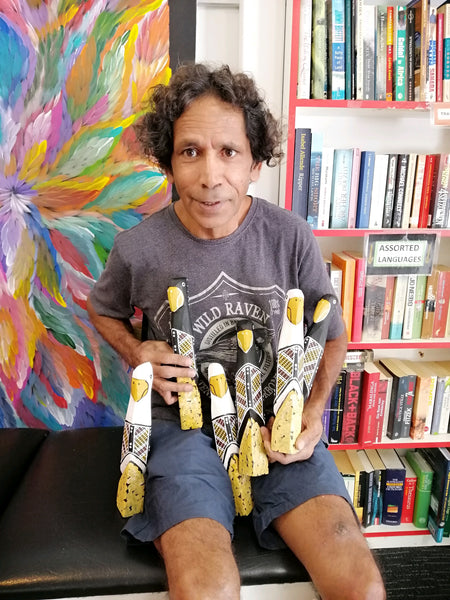KENNY REID - Larrakia Aboriginal Painter and Carver