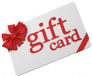 Gift Card denomination options from
