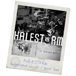 Halestorm<br>Book & Autographed Canvas