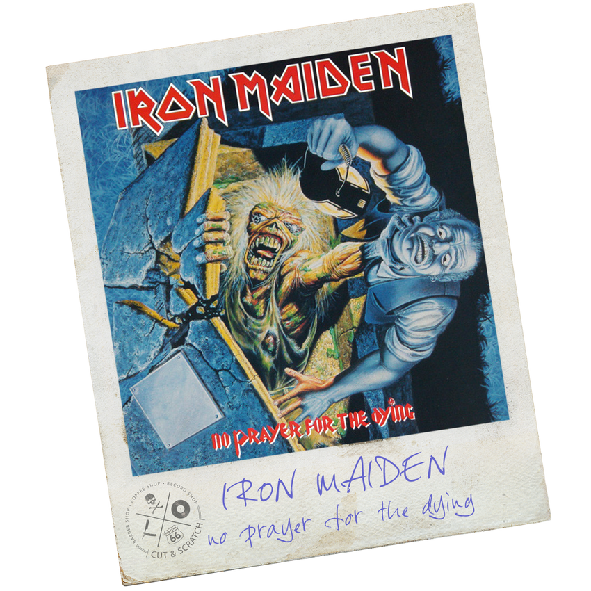 "Iron Madiden<br>""No Prayer For The Dying"""