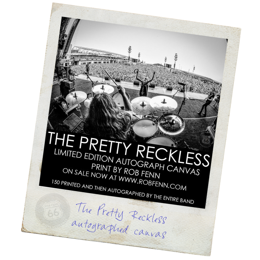 The Pretty Reckless Autograph Canvas