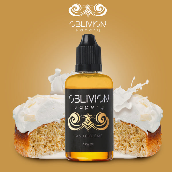 Tres Leches Cake ejuice from Oblivion Vapery