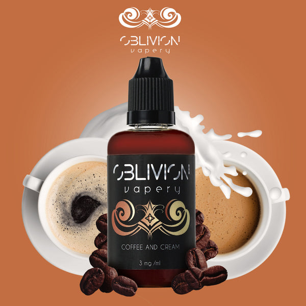 Coffee and Cream ejuice from Oblivion Vapery