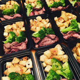 Steak with Broccoli and Roasted Lemon Potatoes - Nourish NB