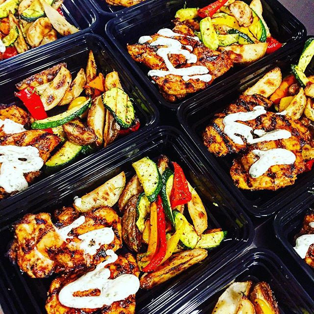 Mediterranean Chicken with Dill Lemon Sauce with Roasted Vegetables with @flavorgod Spices - Nourish NB