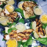 Spinach Cajun Grilled Chicken with Walnut, Apples & Old Cheddar - Nourish NB