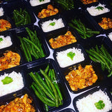 No Bourbon Chicken with @flavorgod Green Beans and Basmati Rice - Nourish NB