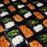 Sweet and spicy also nutty salmon w asparagus & citrus cilantro - Nourish NB