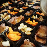 Roast Beef with Herb Potatoes and Roasted Carrots - Nourish NB