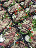 Grilled Steak & Mixed Green Salad w Horseradish Vinaigrette