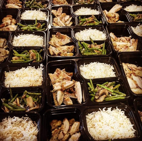 Honey Dijon Rosemary Chicken Thighs with Rice Green Beans & Mushrooms