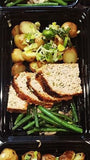 Turkey Mushroom Meatloaf with Fresh Green Beans, Roasted Leeks and Potatoes - Nourish NB