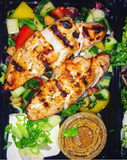 Grilled Chicken Souvlaki with Greek Feta Salad - Nourish NB