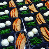 Buffalo Turkey Meat Loaf Mashed Potato and Green Beans