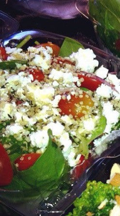 Greek Spinach Feta Salad with Chicken
