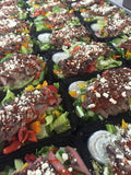 Greek Grilled Steak Salad w Tzatziki Dressing