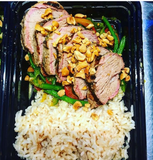 Asian Marinated Pork Tenderloin with Mixed Vegetable & Basmati Rice - Nourish NB