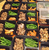 Pork and Mushroom Ragout with BBQ Sweet Potatoes and Green Beans - Nourish NB