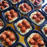 Turkey Meatballs with Fresh Marinara Spaghetti - Nourish NB